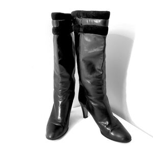 Russell & Bromley Black Leather Tall Luxury Boots
